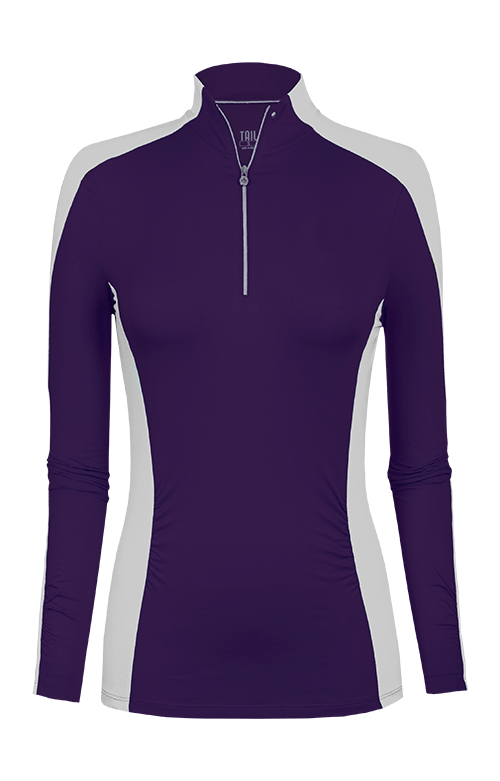 Sloane Purple/White Long Sleeve Pullover