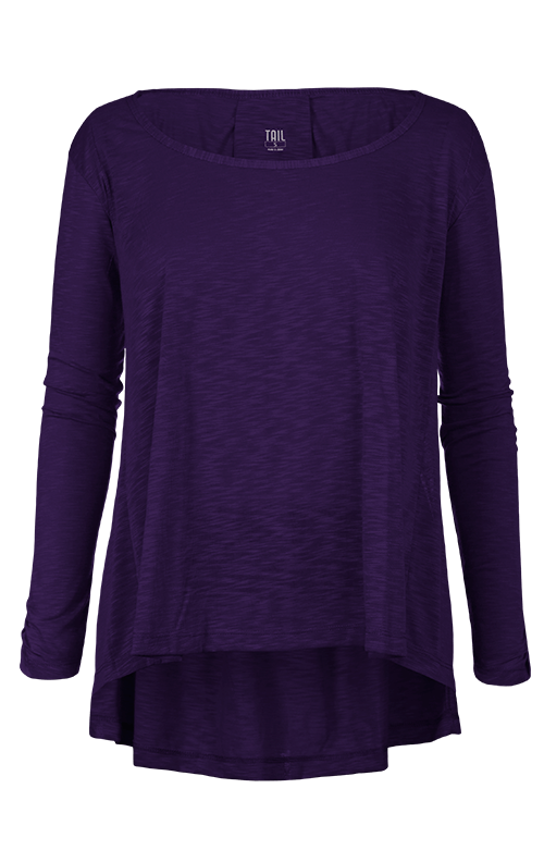 Estie Purple Long Sleeve Top