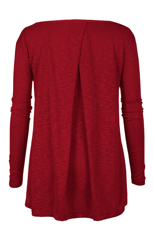 Estie Red Long Sleeve Top