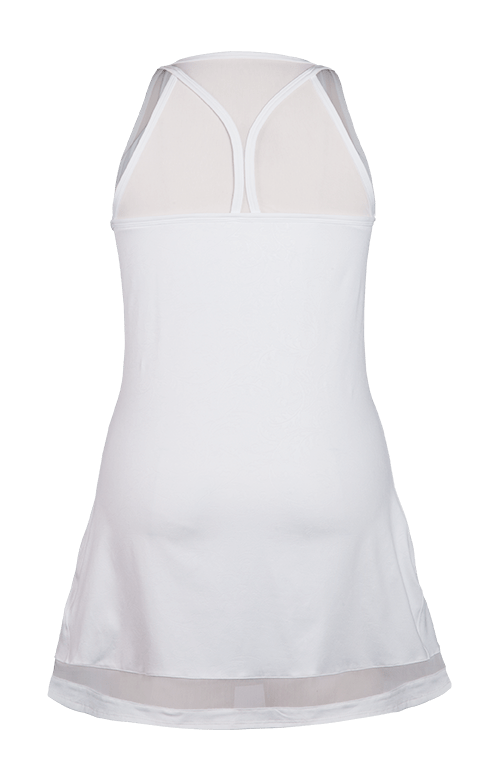 Lupita Racerback Dress - Chrissie Emboss - White