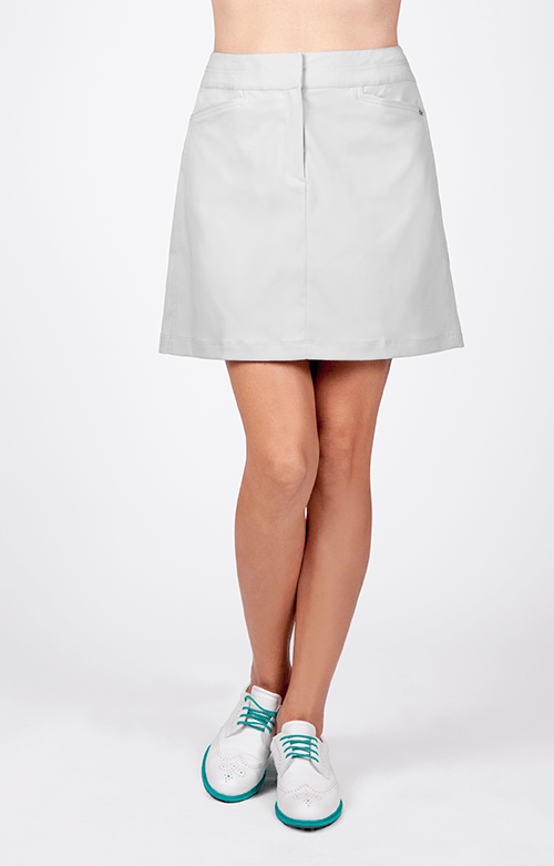 "Classic Skort - Feather Grey - 18"" Outseam"