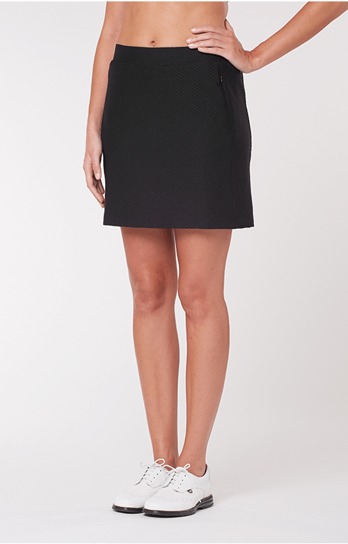 Elevation Black Textured Skort - 18