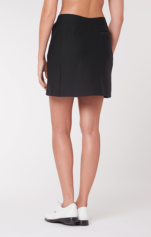 "Elevation Black Textured Skort - 18"" Outseam"
