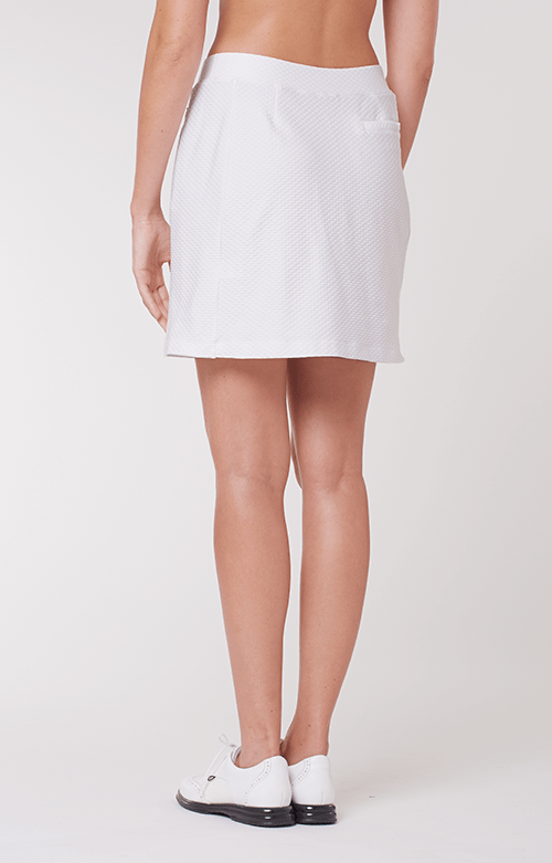 "Elevation White Textured Skort - 18"" Outseam"