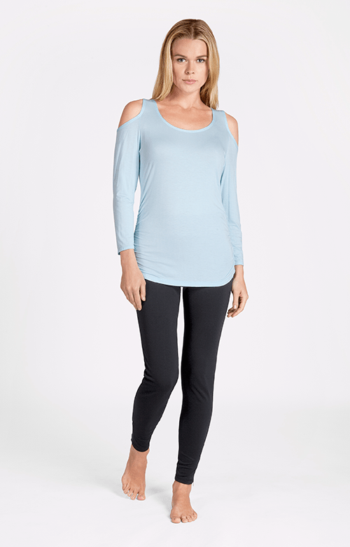 Jan Long Sleeve Hydrangea Blue Top