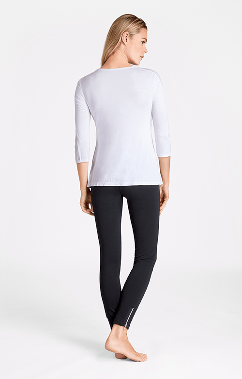 Kassidy V-Neck Mid Sleeve White Top - FINAL SALE