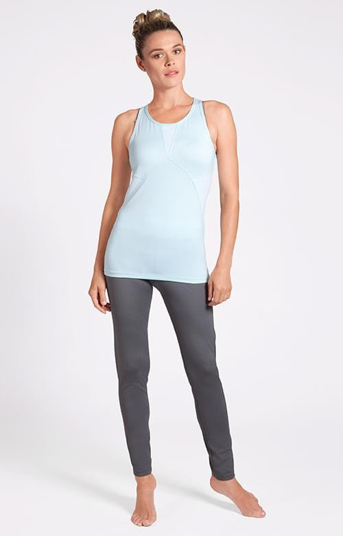 Kinsey Racer Back Hydrangea Blue Tank - FINAL SALE
