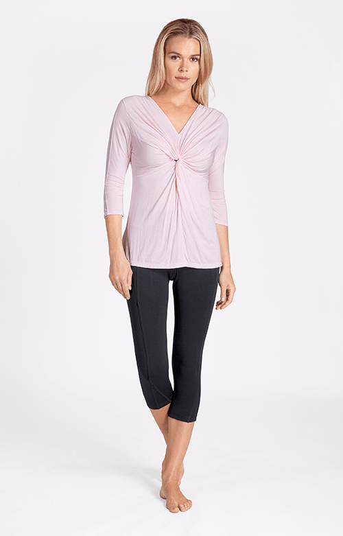 Kassidy V-Neck Mid Sleeve Garden Rose Top