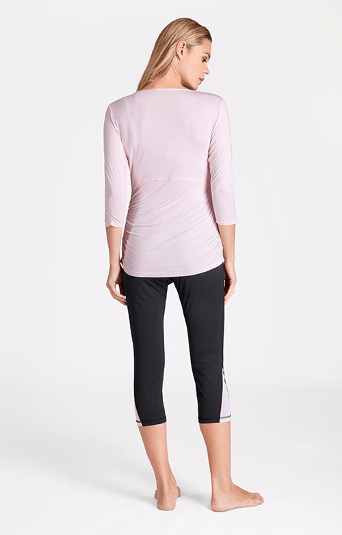 Malinda Mid Sleeve V-Neck Garden Rose Top - FINAL SALE