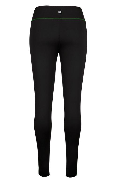 Evie Black and Green Legging