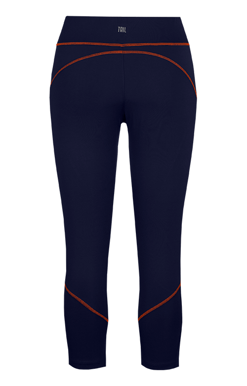 Joy Navy Blue and Orange Capri