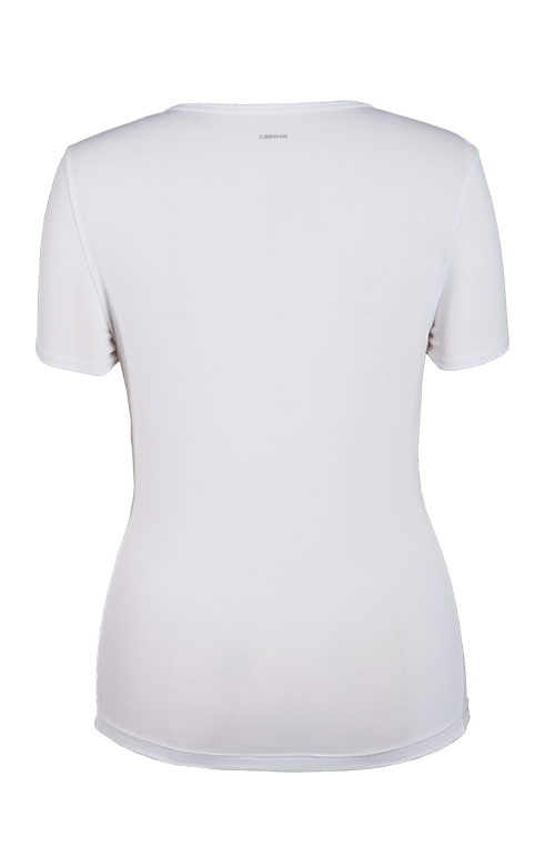 Charlize White Short Sleeve Top - FINAL SALE