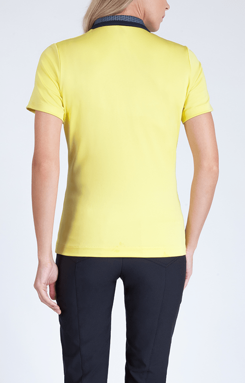 Elizabeth Short Sleeve Pineapple Polo - FINAL SALE