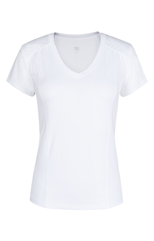Lacasi Short Sleeve White Top