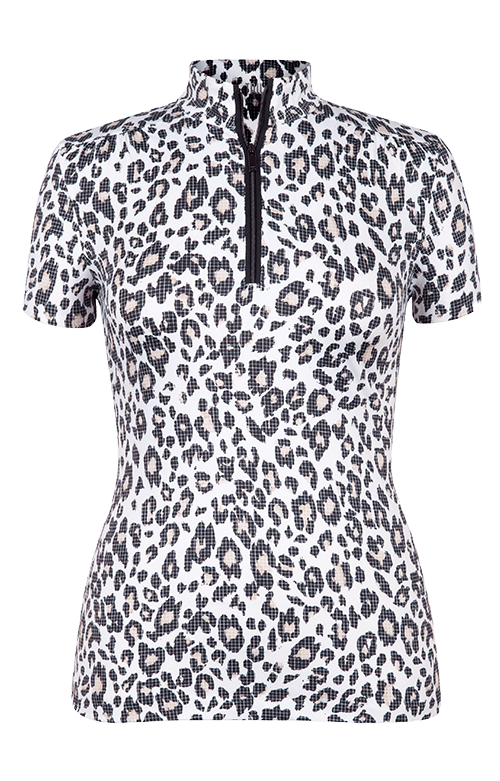 Sylvie Short Sleeve Top -Digital Skin Print