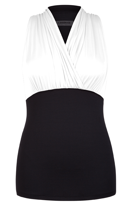 Doreen Tank - White and Black