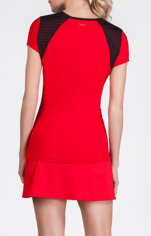 Alivia Short Sleeve Top - Allure Red