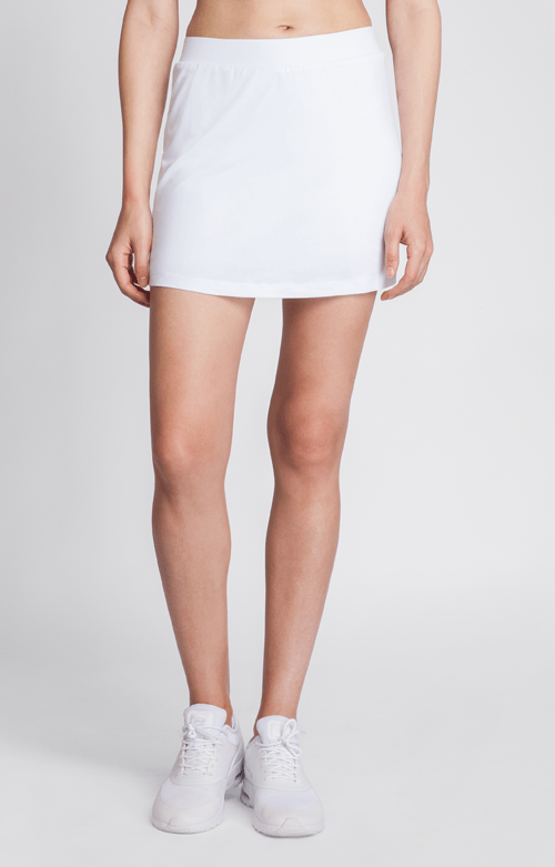 "Optima White A-Line Skort - 14.5"" Length"