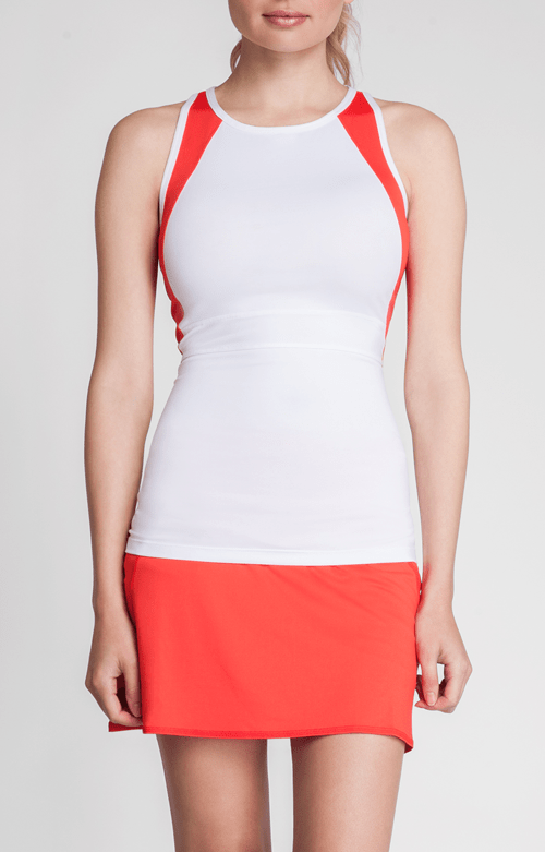 Firefly Tank - White & Firefly Red - FINAL SALE