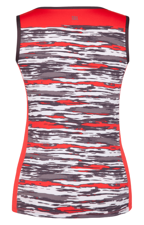 Asha V-Neck Tank - Brush Stroke - FINAL SALE