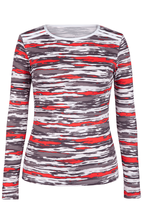 Ricki Long Sleeve Top - Brush Stroke