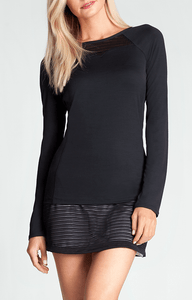Saffron Black Long Sleeve Top - Black