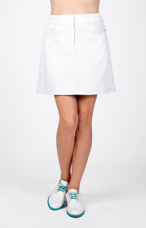 "Classic Skort - White - 18"" Outseam"