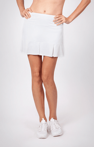 "Doral Pleated Skort - White - 14.5"" Length"
