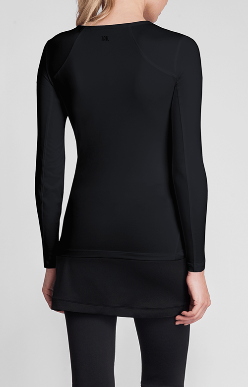 Felisha Black Long Sleeve Top