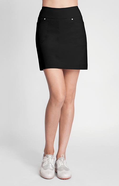 "Milano Black Skort - 18"" Outseam"