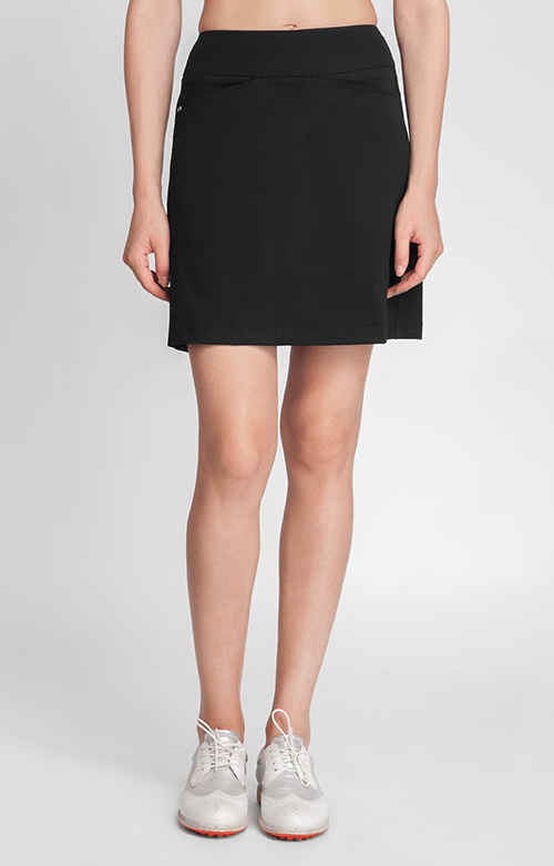 "Horizon Black Comfort Knit Skort - 18"" Outseam"