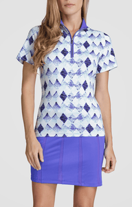 Christabel Top - Aquatica - 8.5in Sleeve Length - FINAL SALE
