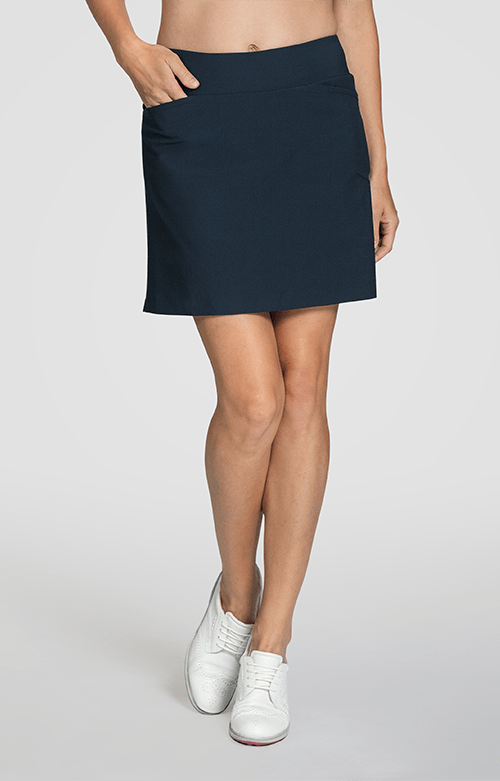 "Mulligan Night Navy Skort - 18"" Outseam"