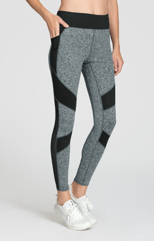 Alsey Leggings - Light Grey Space dye - FINAL SALE