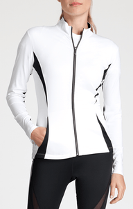 Shay Jacket - White Black
