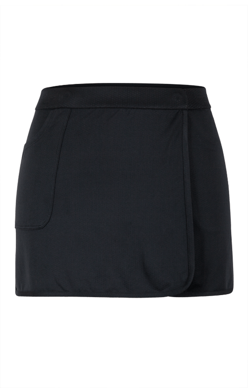 "Briel Reversible Wrap Skirt - Heather and Black - 13.5""/14.5"" Length - FINAL SALE"
