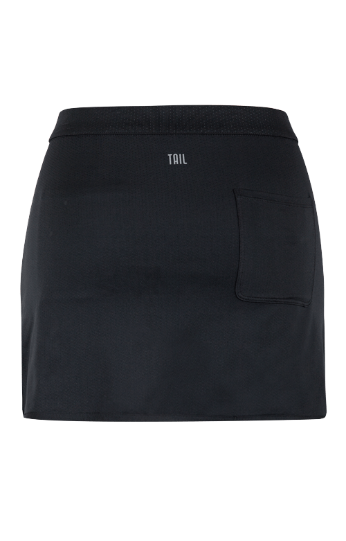 "Briel Reversible Wrap Skirt - Heather and Black - 13.5""/14.5"" Length"