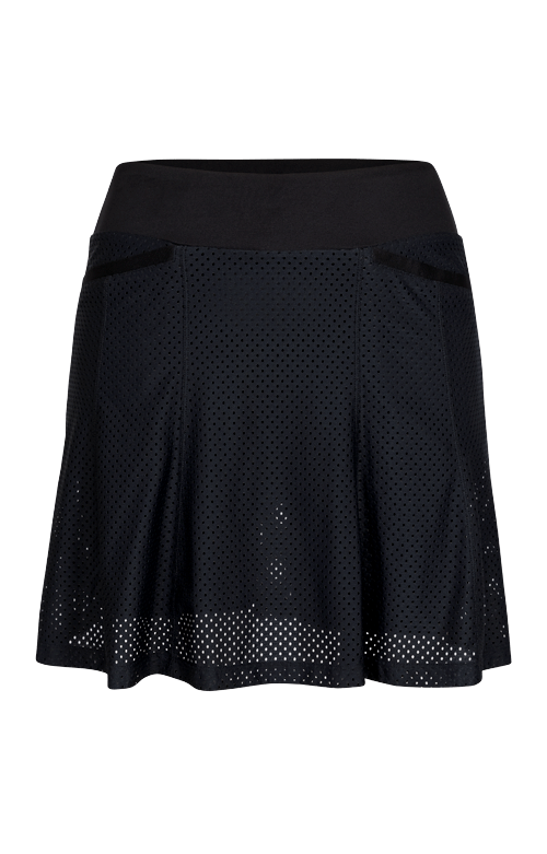 Diana Skort - Black - 18in Outseam