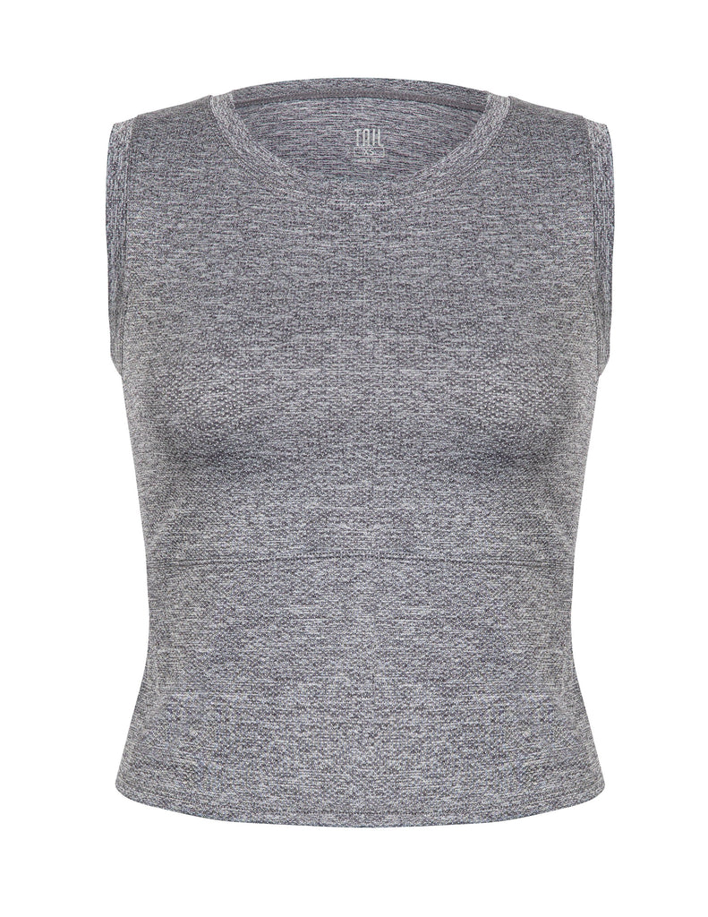 Saniyah Tank - Frosted Heather