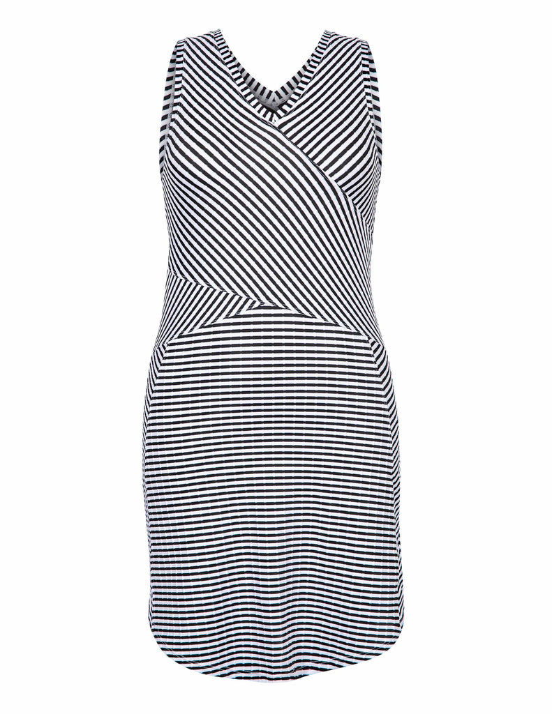 Keyla Dress - Stripe Jacquard