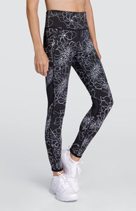 Aviana Reversible Leggings - Etched Floral
