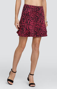 "Mae Skirt - Fierce Leopard - 18"" Outseam"
