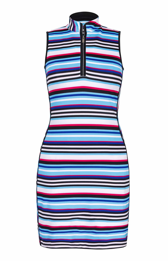 Danville Dress - Polychrome Stripe