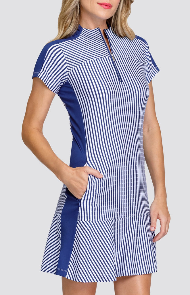 Katie Dress - Stripe Jacquard