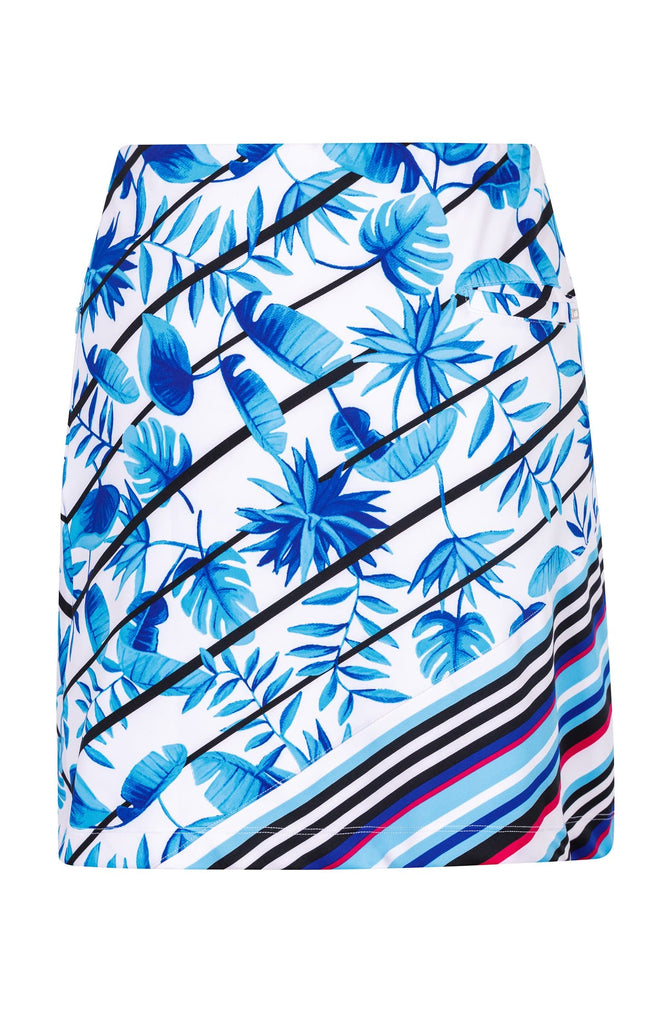 "Lizzie Skort - Striped Tropics -18"" Outseam"