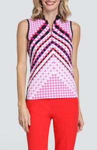 Gianna Top - Woven Chevron