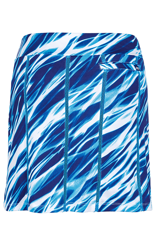"Kailee Skort - Serene Waters - 18"" Outseam"