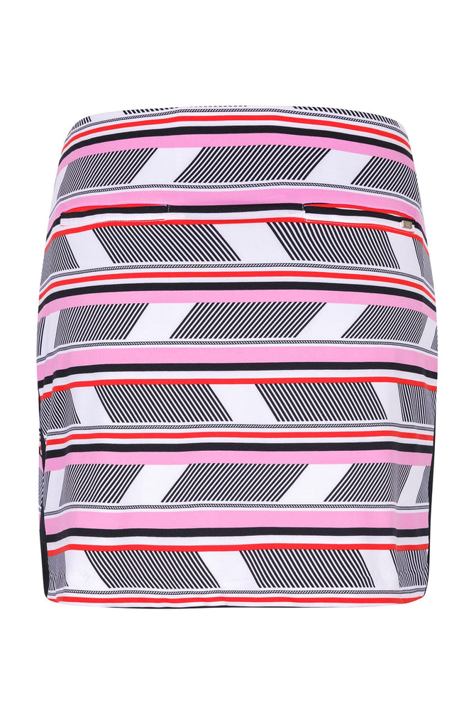 "Betty Skort - Fractured Stripe - 18"" Outseam"