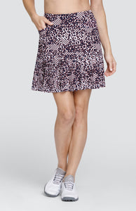 "Reagan Skort - Cheetah Dot - 18"" Outseam"