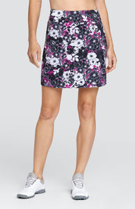 "Judith Skort - Floral Dark - 18"" Outseam"